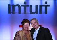 Laura with Brad Smith, President and Chief Executive Officer,  QuickBooks Enterprise Users Conference, Dallas, Texas